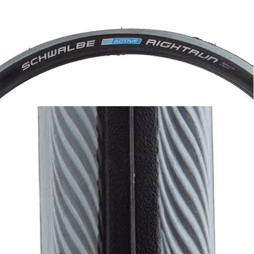 "SCHWALBE TIRES RIGHTRUN K-GUARD 20x1"" BK/GY WIRE"