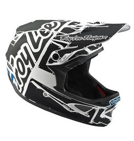 Troy Lee Designs Troy Lee D3 Fiberlite Helmet Factory White/Grey