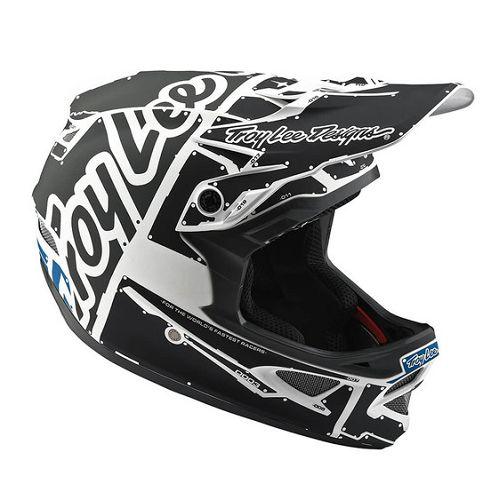 Troy Lee Designs Troy Lee D3 Fiberlite Helmet Factory White/Grey