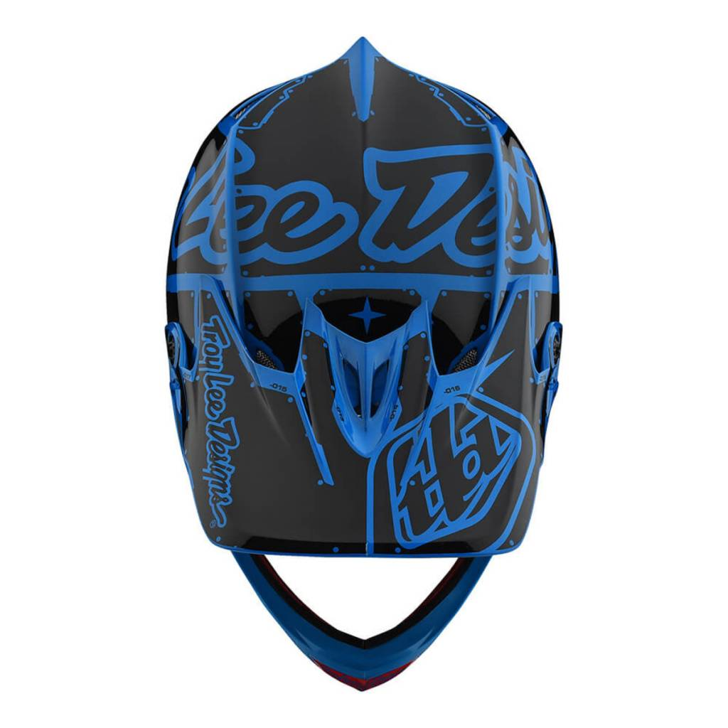 Troy Lee Designs Troy Lee D3 Fiberlite Helmet Factory Ocean Blue