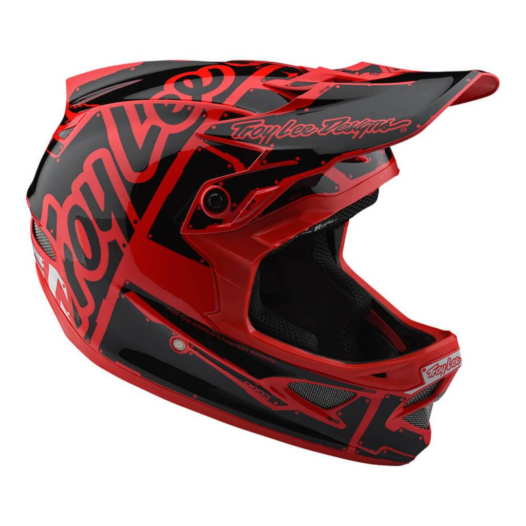 Troy Lee Designs Troy Lee D3 Fiberlite Helmet Factory Red