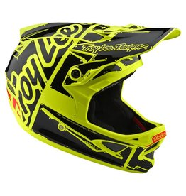 Troy Lee Designs Troy Lee D3 Fiberlite Helmet Factory Flo Yellow