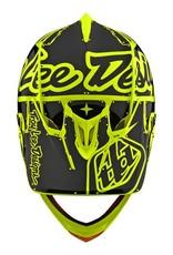 Troy Lee Designs Troy Lee D3 Fiberlite Helmet Factory Flo Yellow