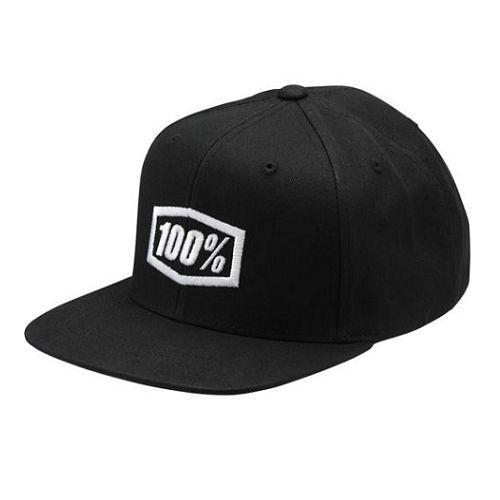 100% 100% Classic Snapback Youth Hat Black