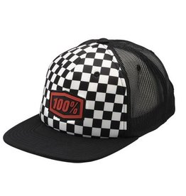 100% 100% Checkers Truck Youth Hat Black