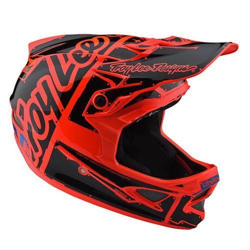 Troy Lee Designs Troy Lee D3 Fiberlite Helmet Factory Orange MD