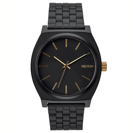 TIME TELLER WATCH MATTE BLACK/GOLD