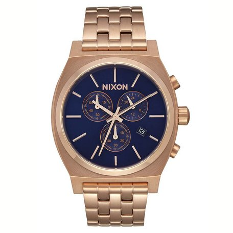 TIME TELLER CHRONO WATCH ALL ROSE GOLD/NAVY