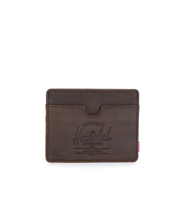 HERSCHEL SUPPLY CO. Charlie Leather Wallet - Nubuck