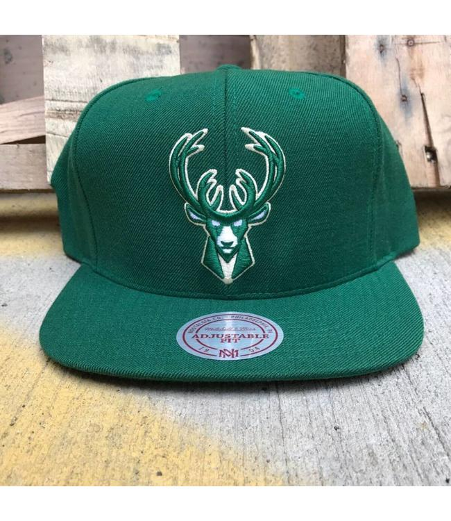 MITCHELL AND NESS Current Wool Solid SNAPBACK HAT