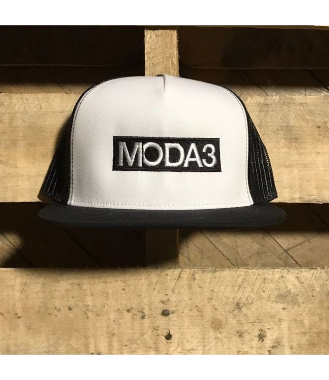 MODA3 Colored Box Logo Trucker Hat
