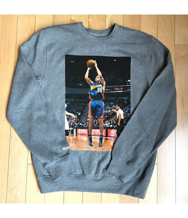 MITCHELL AND NESS #30 Warriors Crewneck