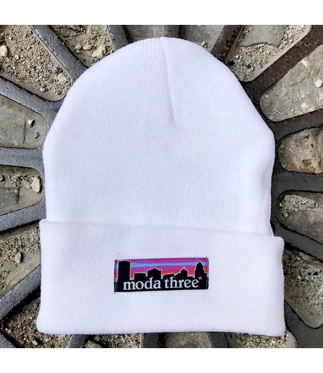 MODA3 City Logo Tip Beanie - White