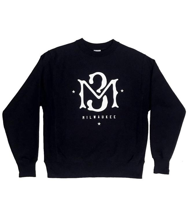 MODA3 M3 Logo Champion Crewneck Sweatshirt - Black