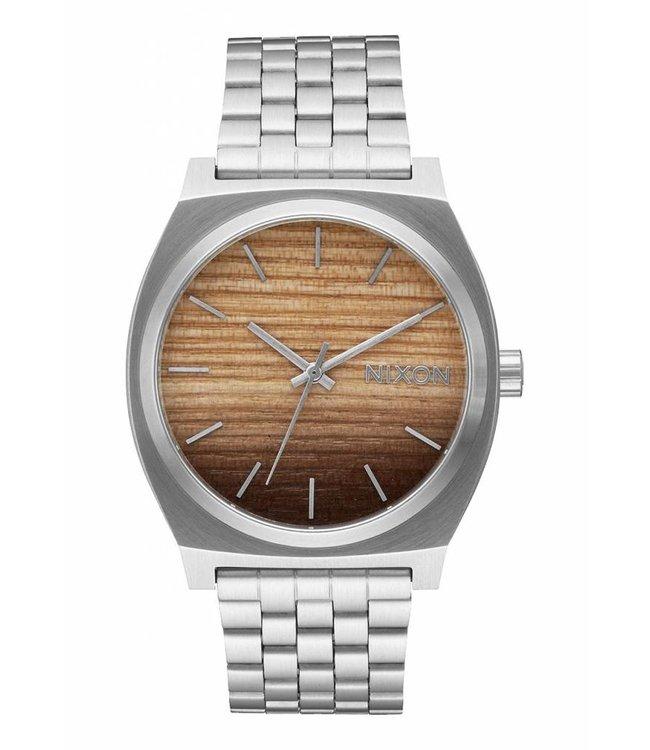 NIXON Time Teller Watch - Wood/Silver