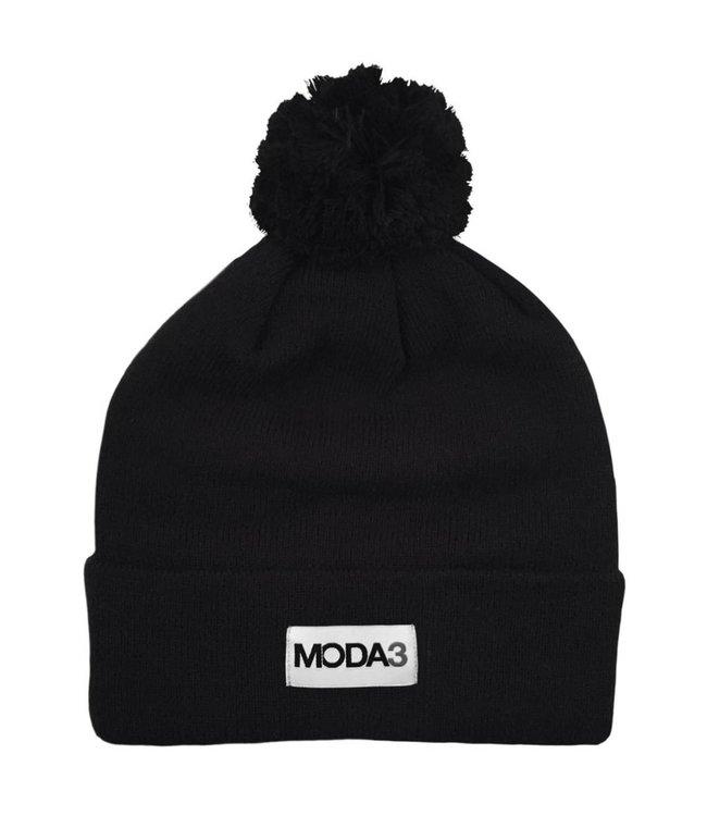 MODA3 Box Logo Pom Beanie