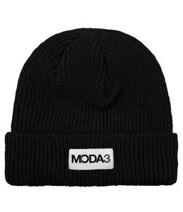 MODA3 BOX LOGO RIBBED BEANIE