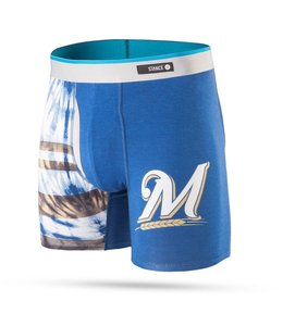 STANCE SOCKS TIE DYE MILWAUKEE BREWERS BOXER BRIEF