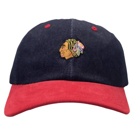 BLACKHAWKS DENIM STRAPBACK