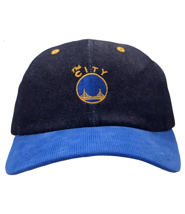 MITCHELL AND NESS Golden State Warriors Denim Strapback Hat