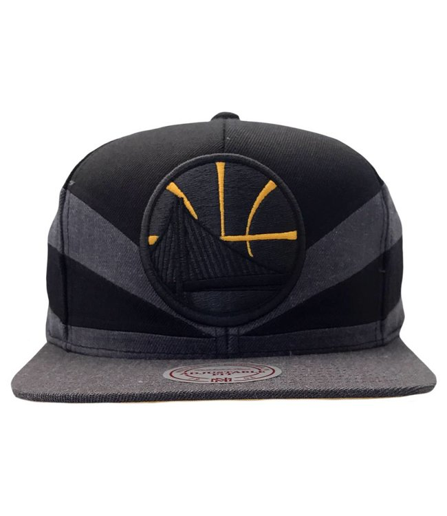 MITCHELL AND NESS Golden State Warriors Black Slash Snapback Hat