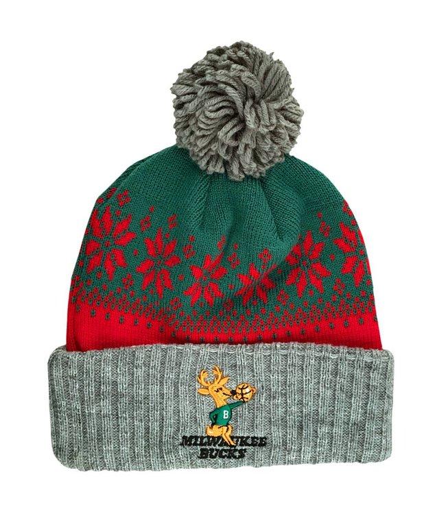MITCHELL AND NESS Bucks HWC Arctic Snowflake Beanie