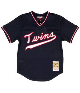 MITCHELL AND NESS KIRBY PUCKETT 1985 BP JERSEY