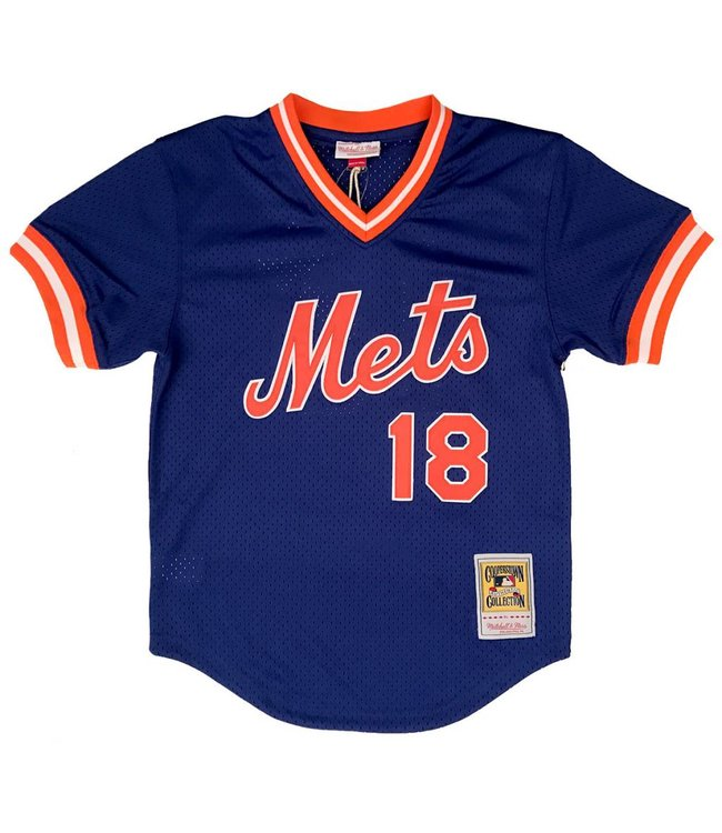 MITCHELL AND NESS Darryl Strawberry 1986 Mets Authentic Batting Practice Jersey