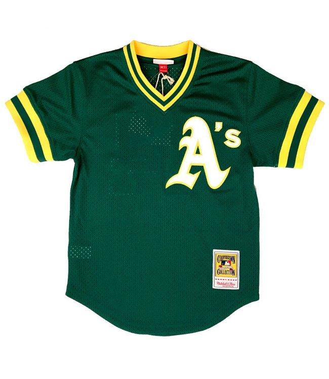 MITCHELL AND NESS Reggie Jackson 1987 Athletics Authentic Batting Practice Jersey