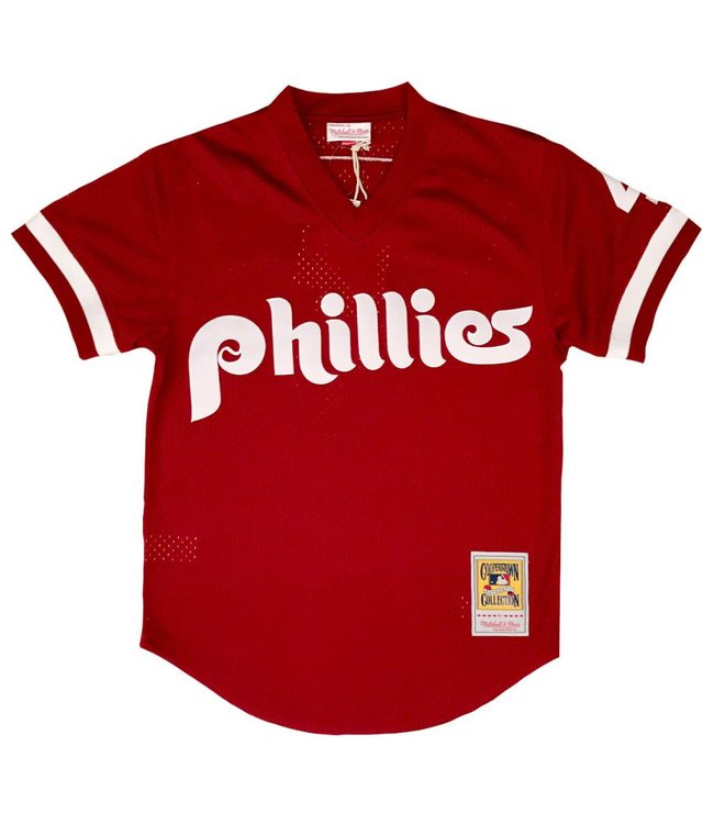 MITCHELL AND NESS Lenny Dykstra 1991 Phillies Authentic Batting Practice Jersey