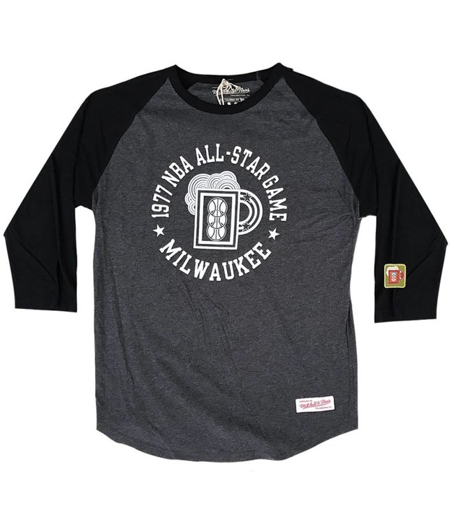 MITCHELL AND NESS '77 All-Star 3/4 Sleeve Raglan Shirt