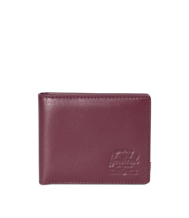HERSCHEL SUPPLY CO. Hank Wallet Leather - Windsor Wine Textured Leather