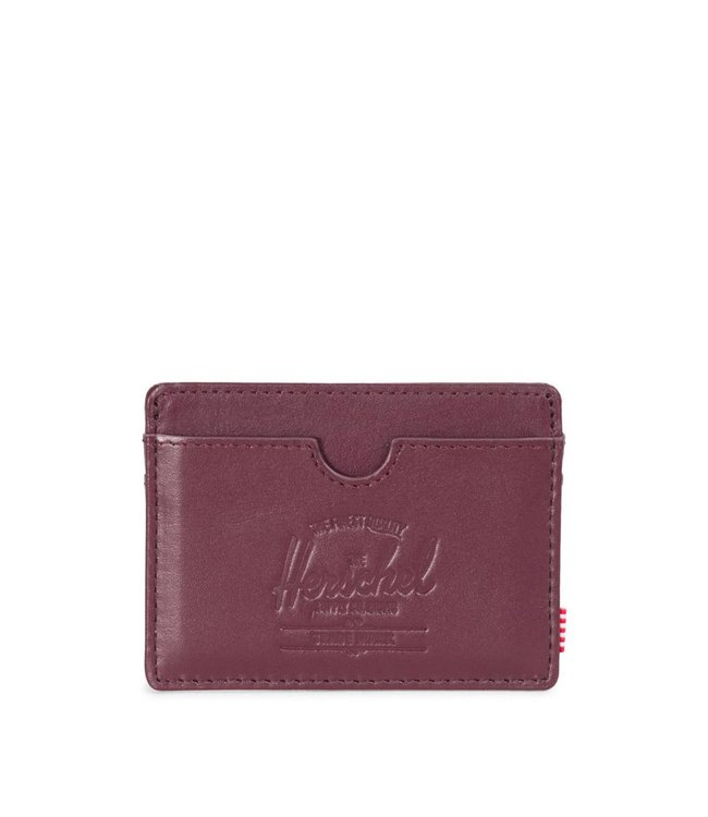 HERSCHEL SUPPLY CO. Charlie Wallet - Windsor Wine Textured Leather