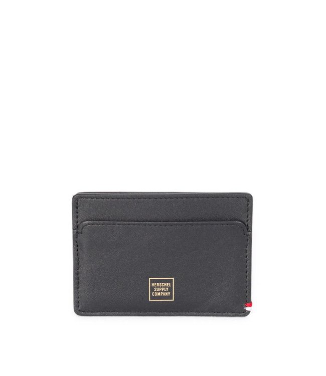 HERSCHEL SUPPLY CO. SLIP WALLET - BLACK LEATHER