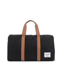 HERSCHEL SUPPLY CO. NOVEL - BLACK/TAN SYNTHETIC LEATHER
