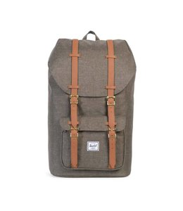 HERSCHEL SUPPLY CO. LITTLE AMERICA - CANTEEN CROSSHATCH/TAN SYNTHETIC LEATHER