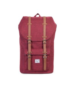 HERSCHEL SUPPLY CO. LITTLE AMERICA - WINETASTING CROSSHATCH/TAN SYNTHETIC LEATHER