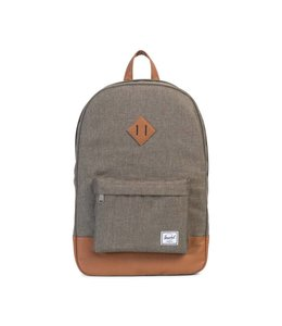 HERSCHEL SUPPLY CO. HERITAGE - CANTEEN CROSSHATCH/TAN SYNTHETIC LEATHER