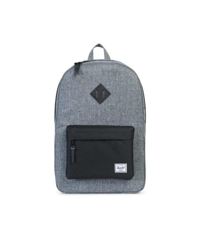 HERSCHEL SUPPLY CO. Heritage Backpack - Raven Crosshatch/Black/Black Leather