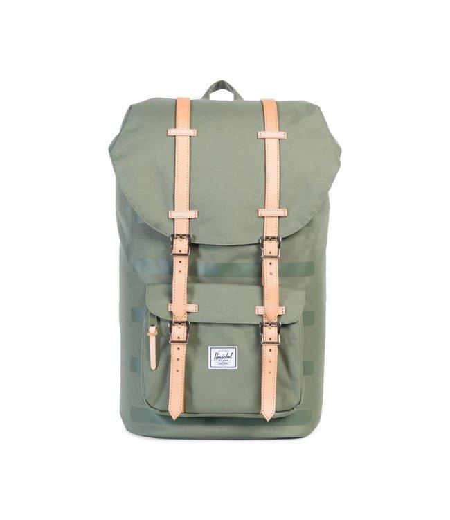 HERSCHEL SUPPLY CO. Little America Backpack - Deep Lichen Green Stripe