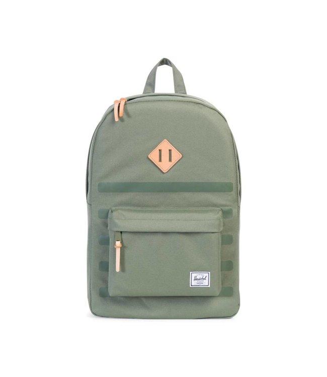 HERSCHEL SUPPLY CO. Heritage Backpack - Deep Lichen Green Stripe