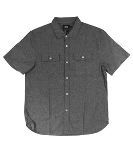 STUSSY SHIRT SLEEVE CHAMBRAY SHIRT