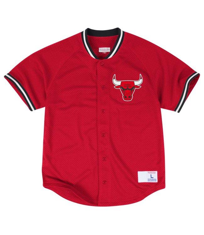 MITCHELL AND NESS Seasoned Chicago Bulls Pro Mesh Button