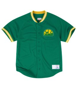 MITCHELL AND NESS SEASONED SUPERSONICS PRO MESH BUTTON