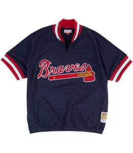 MITCHELL AND NESS ATLANTA BRAVES 1/4 ZIP BP JERSEY