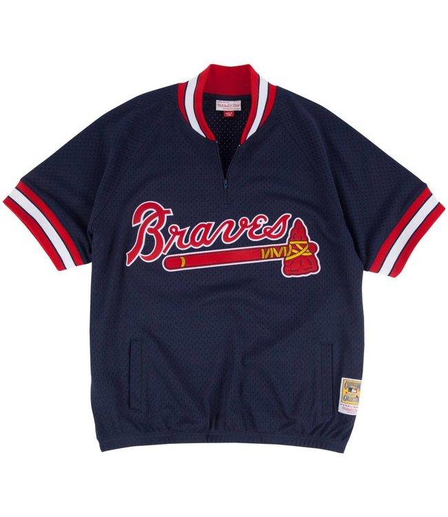 MITCHELL AND NESS Authentic Atlanta Braves 1/4 Zip Batting Practice Jersey