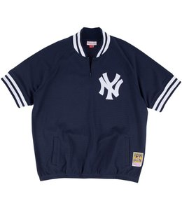 MITCHELL AND NESS NEW YORK YANKEES 1/4 ZIP BP JERSEY