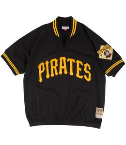 MITCHELL AND NESS PITTSBURGH PIRATES 1/4 ZIP BP JERSEY