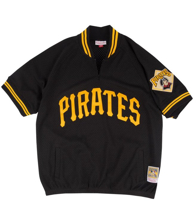 MITCHELL AND NESS Authentic Pittsburgh Pirates 1/4 Zip Batting Practice Jersey
