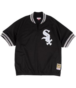 MITCHELL AND NESS BO JACKSON WHITE SOX 1/4 ZIP BP JERSEY